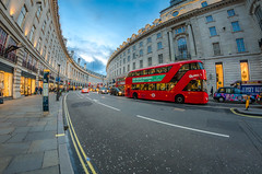Regent Street (aquanandy) Tags: street blue red london lines nikon colours photographer curves cityscapes bluesky tourist explore bluehour timeout regent londonbus londonist indianguy visitlondon timeoutlondon visitbritain nikonflickraward nikond7000