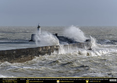 Crashing Waves (andrewtijou) Tags: uk england storm sussex europe waves unitedkingdom harbour gale newhaven crashingwaves roughseas harbourwall andrewtijounikond7000