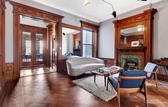 Brooklyn Prospect Park West brownstone Victorian interior room $11 mil (techpro12) Tags: newyork window brooklyn woodwork interior room parkslope historic livingroom ornate partition pediment victoiran