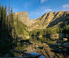Dream Lake - Still Water (BernieErnieJr) Tags: summer lake mountains reflection water sunrise colorado rockymountains estespark frontrange rockymountainnationalpark dreamlake glaciergorge carlzeiss2470mm sonya77mkii