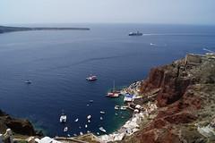 Ferry entering the caldera (Steenjep) Tags: sea house holiday home view santorini greece caldera oia ferie grkenland