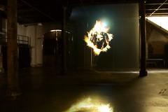 on fire (Val in Sydney) Tags: art artwork sydney australia nsw biennale redfern australie carriageworks