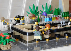 First class lounge - Terminal One - Idlebrick Airport (snaillad) Tags: city modern bar century town airport lego interior lounge modernism age 1950s 1960s atomic mid moc
