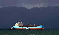 Maersk Rapier (ufopilot) Tags: sun rain bay clyde loch rapier bute rothesay striven maersk