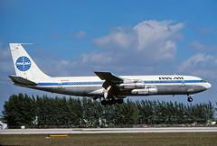 N408PA PanAm 707-321B landing at KMIA (GeorgeM757) Tags: airplane airport aircraft aviation landing boeing 707 panam kmia miamiinternational alltypesoftransport n408pa 707321b georgem757