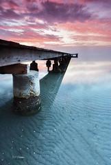 Un paseo hacia el horizonte (Fernando Crego) Tags: pink sunset seascape landscape atardecer pier dock nikon jetty rosa murcia embarcadero marmenor pantalan d90 santiagodelaribera