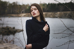 Jeanne (ivankopchenov) Tags: autumn light portrait lake cold cute water girl beautiful forest natural wind outdoor young