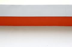 the red is a squaller (raumoberbayern) Tags: winter red abstract rot wall munich mnchen grey wand grau minimal streifen robbbilder urbanfragments