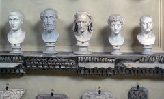 Veristic male portrait (center)