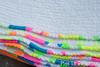 Neon quilt binding (pigsinpajamas) Tags: neon quilt fabric batting layercake basting backing jellyroll rileyblake