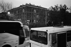 - (s.nikiforov) Tags: street camera blackandwhite bw white black film japan analog zeiss 35mm lens t moscow rangefinder delta made 400 carl and push konica analogue range finder 800 ilford analogphotography rf urbanistic hexar 2835 biogon zm 35mmlens