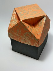 Box with cuboctahedral dimpled lid (modular.dodecahedron) Tags: tomokofuse origamibox