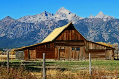 T.A.Moulton Barn (Wonder Woman !) Tags: park mountains barn grand moose national wyoming grandtetons teton plain mormonrow moultonbarn tamoulton