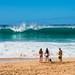 Shore break Waimea Bay