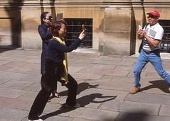 Kung-Phone Fighting (moroseduck) Tags: film 35mm slide olympus analogue mobilephones provia e6 om1