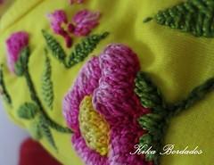 KikaBordados Kika  Krauss 074 (Kika Bordados by Angelica Krauss) Tags: pink flowers flores handmade embroidery laranja crochet tshirt amarelo bordados manualidades croche embroider feitomo camisetabordada camisetabordadamo bordadosfeitomo kikabordadoskikakrauss