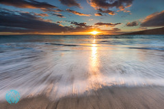 Kenolio Sunset (brandon.vincent) Tags: ocean sunset hawaii soft long exposure pacific hard 9 maui filter lee grad gnd kenolio