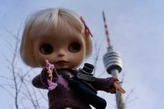 Stuttgart Televison Tower (omgdolls) Tags: blythe blythedoll tippi pureneemobody simplyvanilla dollypunk21