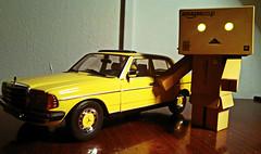 My new car (Spookyfilm) Tags: mercedesbenz figure figur newcar w123 danbo revoltech danboard