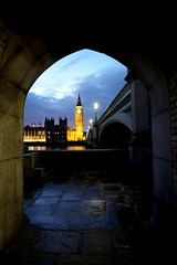 Another shot of Big Ben and Westminster Bridge. I just love this view!  (venesha83) Tags: nightphotography london reflections river twilight housesofparliament bigben southbank riverthames westminsterbridge londonlandmark