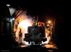 Midnight at Belgrave (michaelgreenhill) Tags: night au australia trains victoria steam pbr belgrave puffingbilly