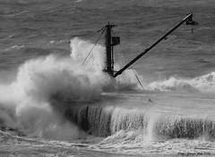 Storm (Crupi Giorgio (official)) Tags: sea bw panorama seascape storm monochrome canon monocromo blackwhite italia mare liguria wave genova acqua burrasca biancoenero onde onda canon70300 allaperto canon550d