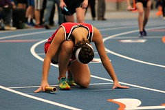ON YOUR MARK... (MIKECNY) Tags: start highschool relay baton indoortrack startingline mechanicville