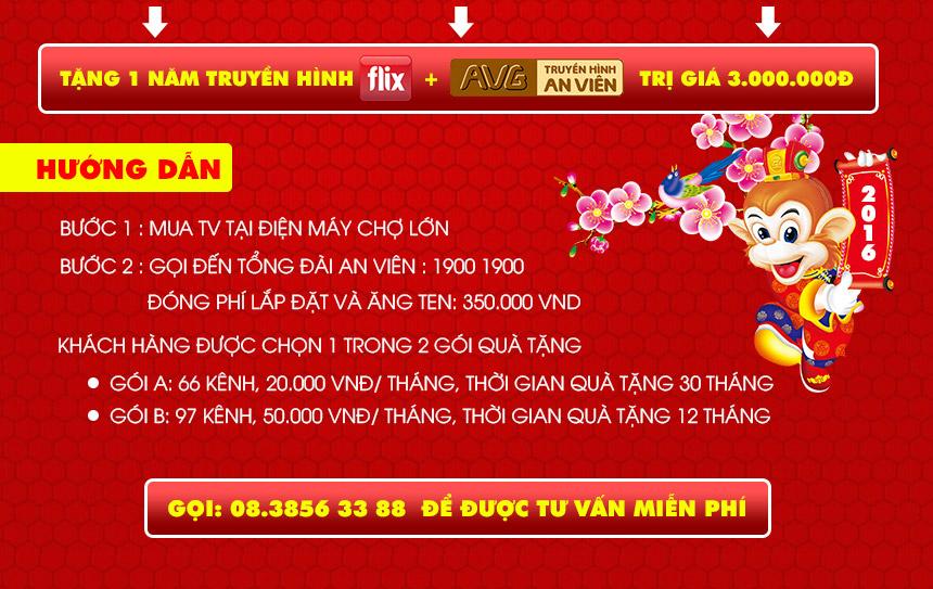 Sắm Tivi tặng 1 năm xem truyền hình - độc quyền tại Điện Máy - Nội Thất Chợ Lớn