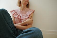 Vogue 2805 hack (BOMBAZINE *) Tags: pink vintage sew vogue 2805 frill vintagepattern bombazine vogue2805