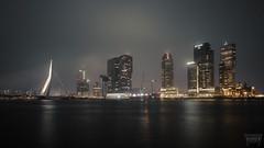 Big City Nights (Vanwetswinkel Vincent) Tags: city bridge sky water architecture skyscraper port river big rotterdam long exposure 10 sony lee nd nights stopper a7s