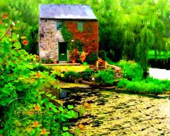 The Mill House. (Edward Dullard Photography. Kilkenny, Ireland.) Tags: kilkenny ireland house river landscape cottage maison kells edwarddullardphotography oldphotographsofkilkenny oldpicturesofkilkenny