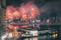 fireworks in hong kong (Tu_images) Tags: china new city skyline night work asian fire hongkong harbor asia fireworks harbour year chinese landmark firework victoria hong kong celebration celebrations