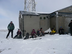 Lunch on the summit (brianandsusierobertson) Tags: winter hillwalking braemar morrone