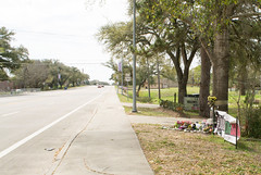 Sandra Bland Memorial, University Drive, Prairie View, Texas 1603061159 (Patrick Feller) Tags: county trooper david black dan public neglect drive justice office am university texas greg view sandra african chief brian south glenn w ken patrick evil police jim smith safety hempstead southern crime american pigs jail bland murder hanging lives law courthouse conservative enforcement sheriff crow prairie republican abbott racism punishment department royce legal abuse prisoner hartley inmate paxton matter hick lynching waller backward bigotry abuseofpower tdps encinia
