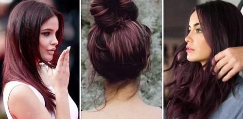 Couleur de cheveux brun cerise