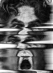 Scan 53: Found in Transmission (A Durst Photo) Tags: portrait people selfportrait eye art face hair scanner bodypart typeofphotography alternativrprocess