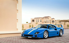 Azzurro Dino (Alex Penfold) Tags: blue cars alex car dubai dino super ferrari autos supercar supercars f40 penfold 2016 azzuro