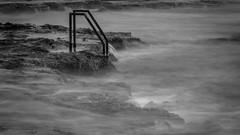 Ladder into the unknown (fredrik.gattan) Tags: sea water swim movement spain rocks long mediterranean shutter ladder espania torrevieja