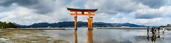 Itsukushima Shrine (SMSidat) Tags: travel panorama japan shrine asia pano floating panoramic miyajima jp hiroshimaken itsukushima travelphotography hatsukaichishi