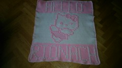 Kitty blanket for Rionach (dochol) Tags: chart cute wool cat handmade hellokitty name crochet kitty craft graph yarn blanket afghan alphabet manta babyblanket personalised croche babyname crochethooks haakenwert