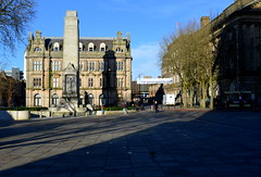 Shadows on Preston's Flag Market (Tony Worrall Foto) Tags: county city uk england cold stone buildings cool stream afternoon tour shadows open place northwest unitedkingdom country seasonal north central visit location lancashire area preston cenotaph sunlit northern update attraction lancs flagmarket welovethenorth