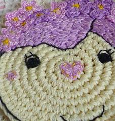 lavender girl crochet coaster2 (MonikaDesign) Tags: homedecor tabledecor kitchendecor handmadecoasters lavenderdoll monikadesign flowercoaster lavendergirlcoaster crochetlavenderflowercoaster