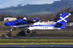 G-HIAL.GLA-090416 (MarkP51) Tags: plane airplane scotland airport nikon image glasgow aircraft aviation viking gla loganair twinotter egpf ghial dhc6400 d7200 markp51