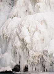 Icefall (Catherine Lembl) Tags: canada film ice analog frozen waterfall falls upper alberta banff mamiya645 icefall johnstoncanyon filmisnotdead bowlakeparkway