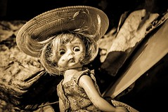 What a Doll! (The Noodle!) Tags: abandoned farmhouse toy doll stained discarded