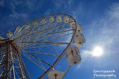 Ferris Wheel (jonnywalker) Tags: sea coast pier seaside bluesky lancashire promenade ferriswheel seafront funfair blackpool centralpier