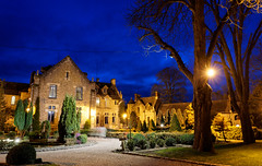 Night romance (marko.erman) Tags: longexposure light france colors beautiful architecture night buildings sony romance monastery romantic bluehour abbaye vauxdecernay