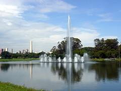 Ibirapuera Park (Serghei Zadorojnai) Tags: park brazil lake saopaulo 2012 panoram foutain ibirapuerapark 201204 20120414