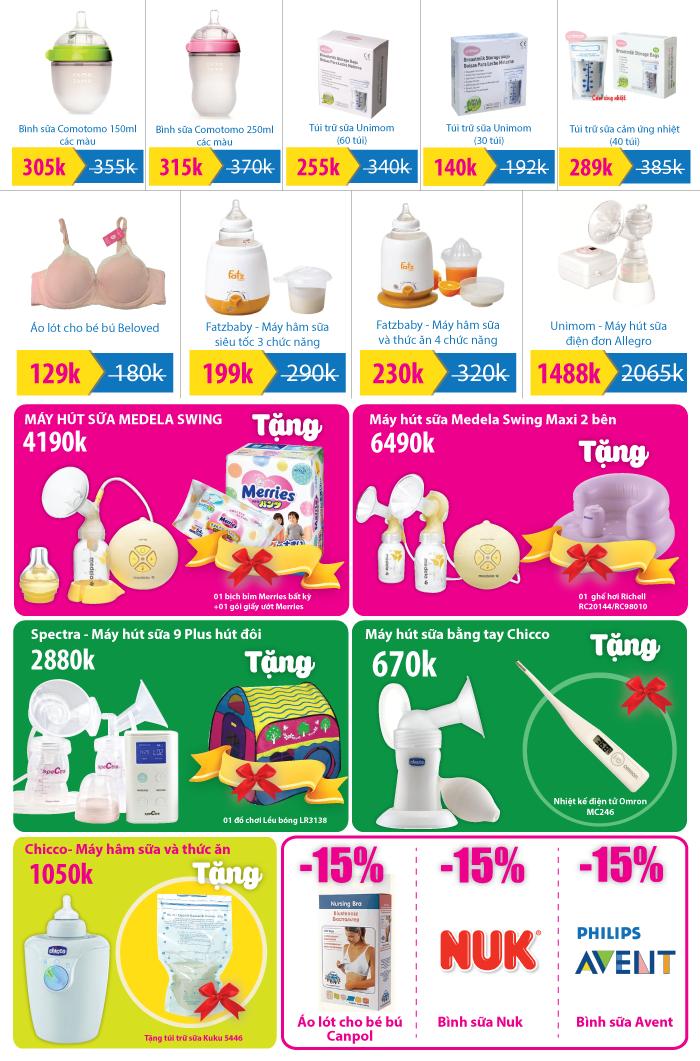 [Nuôi con bằng sữa Mẹ] Giá tốt các sản phẩm nuôi con bằng sữa mẹ tại TutiCare Trần Hưng Đạo (T7, chủ nhật hàng tuần)