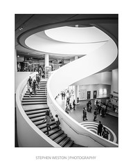 Steps 3 (Stephen Weston Photography) Tags: people white black detail building monochrome museum architecture stairs liverpool photography mono photo blackwhite fuji pics images structure stephen staircase fujifilm weston x20 lightroom 2016 stephenwestonphotography